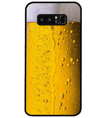 ADEL Siliconen Back Cover Softcase Hoesje voor Samsung Galaxy Note 8 - Pils Bier