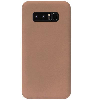 ADEL Siliconen Back Cover Softcase Hoesje voor Samsung Galaxy Note 8 - Bruin