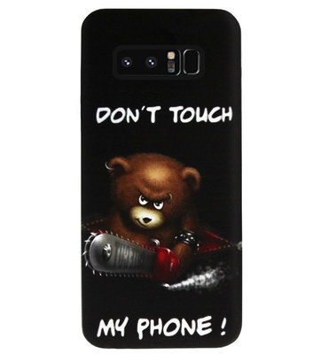 ADEL Siliconen Back Cover Softcase Hoesje voor Samsung Galaxy Note 8 - Don't Touch My Phone Beren
