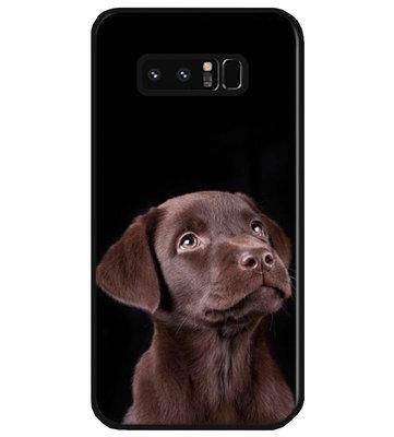 ADEL Siliconen Back Cover Softcase Hoesje voor Samsung Galaxy Note 8 - Labrador Retriever Hond Bruin