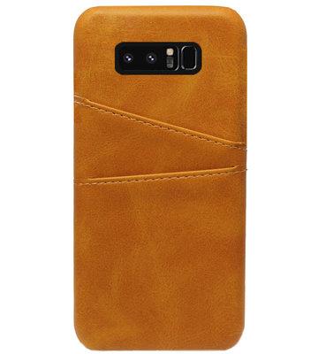 ADEL Kunstleren Back Cover Pasjes Hoesje voor Samsung Galaxy Note 8 - Bruin
