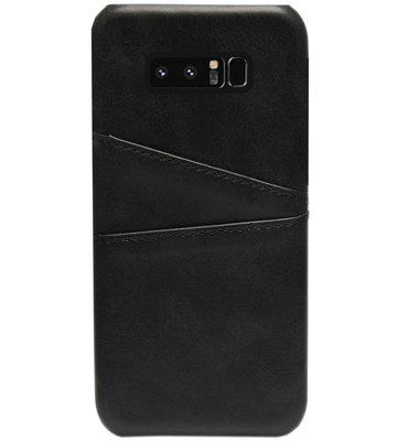 ADEL Kunstleren Back Cover Pasjes Hoesje voor Samsung Galaxy Note 8 - Zwart