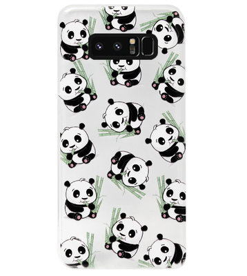 ADEL Siliconen Back Cover Softcase Hoesje voor Samsung Galaxy Note 8 - Panda Liggend