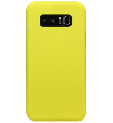 ADEL Premium Siliconen Back Cover Softcase Hoesje voor Samsung Galaxy Note 8 - Geel