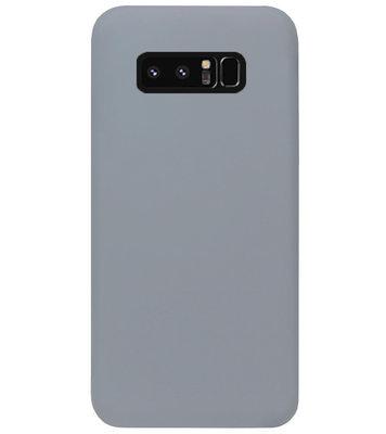 ADEL Siliconen Back Cover Softcase Hoesje voor Samsung Galaxy Note 8 - Grijs