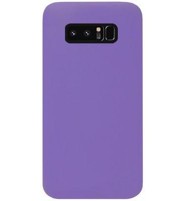 ADEL Siliconen Back Cover Softcase Hoesje voor Samsung Galaxy Note 8 - Paars
