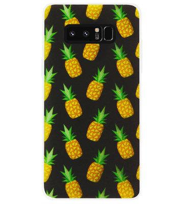 ADEL Siliconen Back Cover Softcase Hoesje voor Samsung Galaxy Note 8 - Ananas