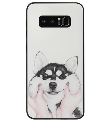 ADEL Siliconen Back Cover Softcase Hoesje voor Samsung Galaxy Note 8 - Husky Hond