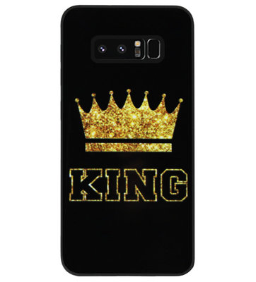 ADEL Siliconen Back Cover Softcase Hoesje voor Samsung Galaxy Note 8 - King Koning