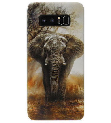 ADEL Siliconen Back Cover Softcase Hoesje voor Samsung Galaxy Note 8 - Olifanten
