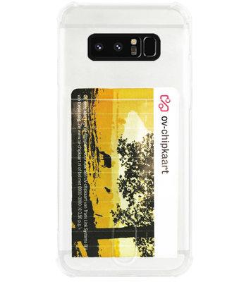 ADEL Siliconen Back Cover Softcase Hoesje voor Samsung Galaxy Note 8 - Pasjeshouder Doorzichtig