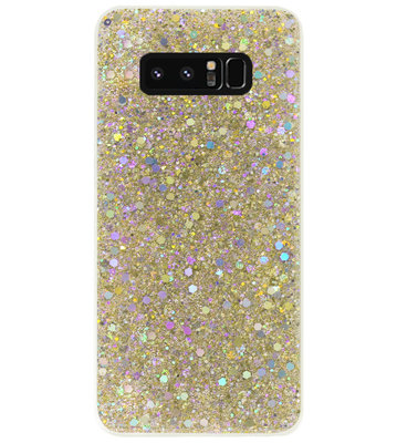 ADEL Premium Siliconen Back Cover Softcase Hoesje voor Samsung Galaxy Note 8 - Bling Bling Glitter Goud