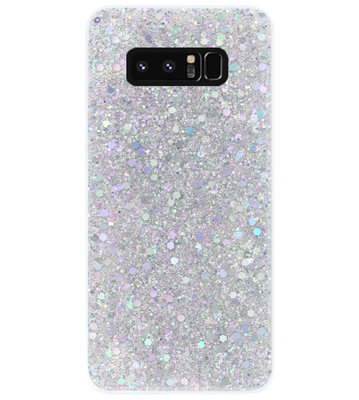 ADEL Premium Siliconen Back Cover Softcase Hoesje voor Samsung Galaxy Note 8 - Bling Bling Glitter Zilver