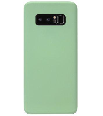 ADEL Premium Siliconen Back Cover Softcase Hoesje voor Samsung Galaxy Note 8 - Lichtgroen