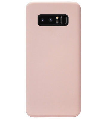 ADEL Premium Siliconen Back Cover Softcase Hoesje voor Samsung Galaxy Note 8 - Lichtroze