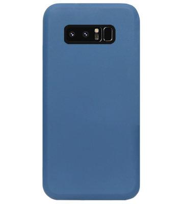 ADEL Premium Siliconen Back Cover Softcase Hoesje voor Samsung Galaxy Note 8 - Blauw