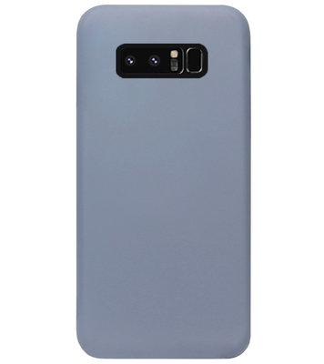 ADEL Premium Siliconen Back Cover Softcase Hoesje voor Samsung Galaxy Note 8 - Lavendel