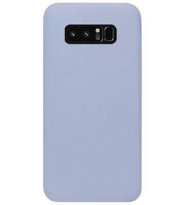 ADEL Premium Siliconen Back Cover Softcase Hoesje voor Samsung Galaxy Note 8 - Lavendel Grijs