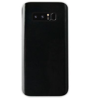 ADEL Siliconen Back Cover Softcase Hoesje voor Samsung Galaxy Note 8 - Doorzichtig Transparant