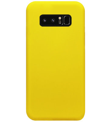 ADEL Siliconen Back Cover Softcase Hoesje voor Samsung Galaxy Note 8 - Geel