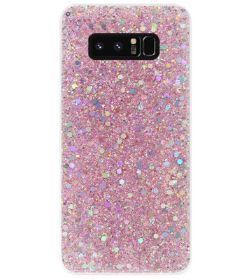 ADEL Premium Siliconen Back Cover Softcase Hoesje voor Samsung Galaxy Note 8 - Bling Bling Roze