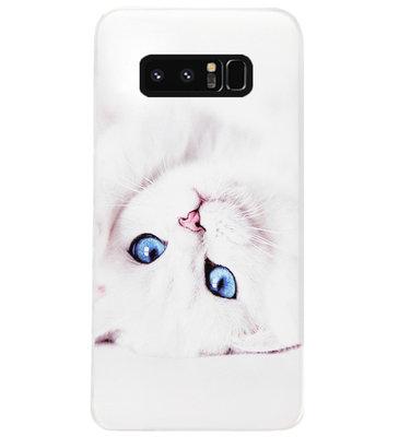 ADEL Siliconen Back Cover Softcase Hoesje voor Samsung Galaxy Note 8 - Katten
