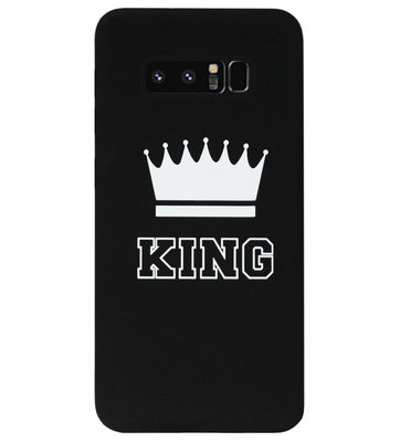 ADEL Siliconen Back Cover Softcase Hoesje voor Samsung Galaxy Note 8 - King