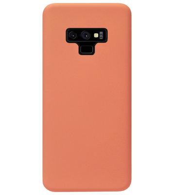 ADEL Premium Siliconen Back Cover Softcase Hoesje voor Samsung Galaxy Note 9 - Oranje