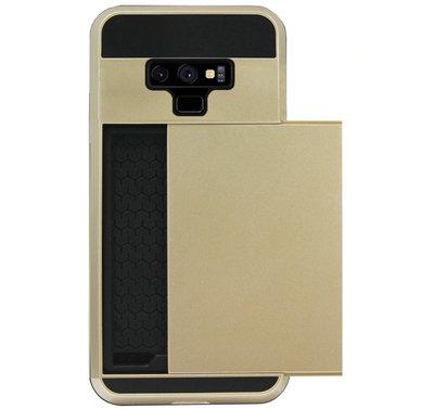 ADEL Kunststof Back Cover Hardcase Hoesje voor Samsung Galaxy Note 9 - Pasjeshouder Goud
