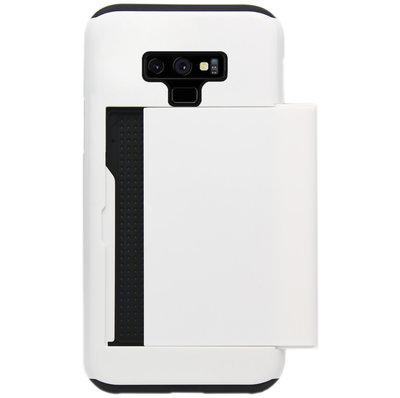 ADEL Kunststof Back Cover Hardcase Hoesje voor Samsung Galaxy Note 9 - Pasjeshouder Wit