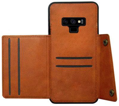 ADEL Kunstleren Back Cover Pasjeshouder Hoesje voor Samsung Galaxy Note 9 - Bruin