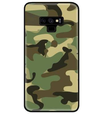 ADEL Siliconen Back Cover Softcase Hoesje voor Samsung Galaxy Note 9 - Camouflage
