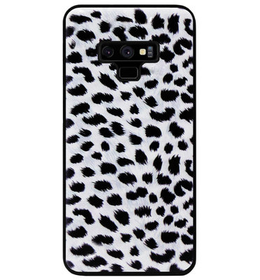 ADEL Siliconen Back Cover Softcase Hoesje voor Samsung Galaxy Note 9 - Luipaard Wit