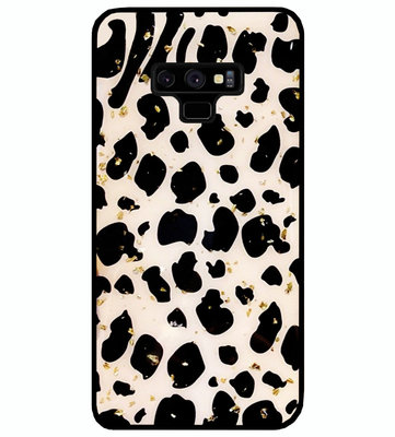 ADEL Siliconen Back Cover Softcase Hoesje voor Samsung Galaxy Note 9 - Luipaard Bling Glitter