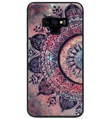 ADEL Siliconen Back Cover Softcase Hoesje voor Samsung Galaxy Note 9 - Mandala Bloemen Rood