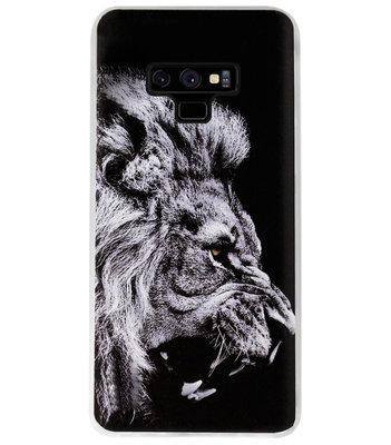 ADEL Siliconen Back Cover Softcase Hoesje voor Samsung Galaxy Note 9 - Leeuw Zwart