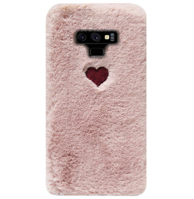 ADEL Siliconen Back Cover Softcase Hoesje voor Samsung Galaxy Note 9 - Hartjes Roze