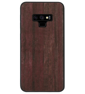 ADEL Siliconen Back Cover Softcase Hoesje voor Samsung Galaxy Note 9 - Hout Design Bruin