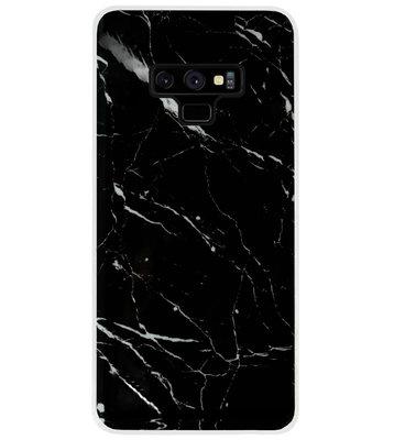 ADEL Siliconen Back Cover Softcase Hoesje voor Samsung Galaxy Note 9 - Marmer Zwart