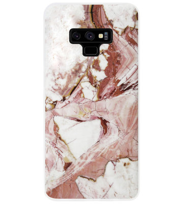 ADEL Siliconen Back Cover Softcase Hoesje voor Samsung Galaxy Note 9 - Marmer Rood