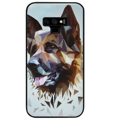 ADEL Siliconen Back Cover Softcase Hoesje voor Samsung Galaxy Note 9 - Duitse Herder Hond