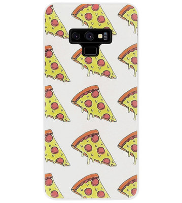 ADEL Siliconen Back Cover Softcase Hoesje voor Samsung Galaxy Note 9 - Junkfood Pizza