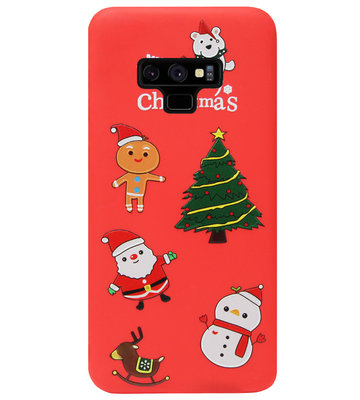 ADEL Siliconen Back Cover Softcase Hoesje voor Samsung Galaxy Note 9 - Kerstmis Rood