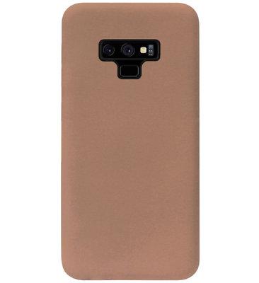 ADEL Siliconen Back Cover Softcase Hoesje voor Samsung Galaxy Note 9 - Bruin