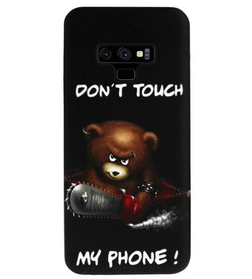 ADEL Siliconen Back Cover Softcase Hoesje voor Samsung Galaxy Note 9 - Don't Touch My Phone Beren