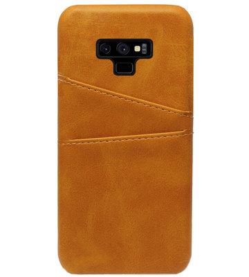 ADEL Kunstleren Back Cover Pasjes Hoesje voor Samsung Galaxy Note 9 - Bruin