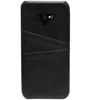 ADEL Kunstleren Back Cover Pasjes Hoesje voor Samsung Galaxy Note 9 - Zwart