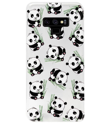 ADEL Siliconen Back Cover Softcase Hoesje voor Samsung Galaxy Note 9 - Panda Liggend