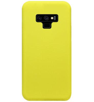 ADEL Premium Siliconen Back Cover Softcase Hoesje voor Samsung Galaxy Note 9 - Geel
