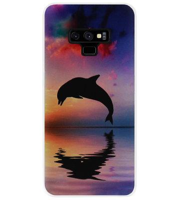 ADEL Kunststof Back Cover Hardcase Hoesje voor Samsung Galaxy Note 9 - Dolfijn
